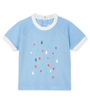 Camiseta de manga corta para bebé niño azul Jasmin