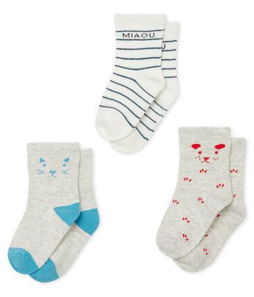 Lote de 3 pares de calcetines bebé niño lote .