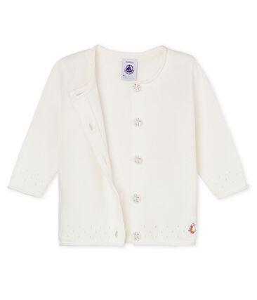 Cárdigan 100% algodón para bebé niña blanco Marshmallow