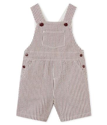 Peto corto de rayas para bebé niño rojo Vino / blanco Marshmallow