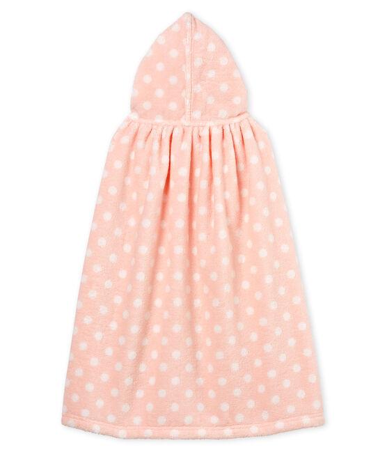 Capa de baño de rizo para bebé niña rosa Minois / blanco Lait