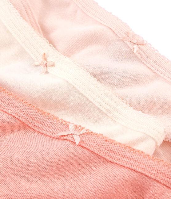 Tres braguitas de algodón y lino para niña lote .