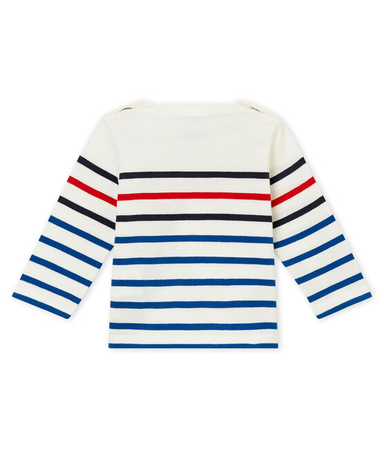 Camiseta para bebé niño a rayas blanco Marshmallow / blanco Multico
