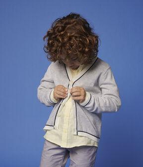Rebeca de algodón de punto de niño gris Poussiere Chine