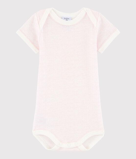 Bodi de manga corta de bebé niña LAIT/BABYLONE