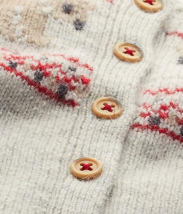 Cardigan en tricot para bebé unisex gris Montelimar Chine