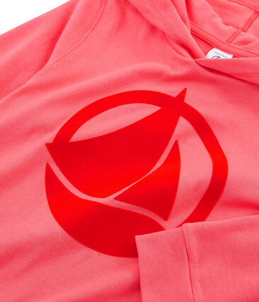 Sudadera infantil con capucha rosa Groseiller