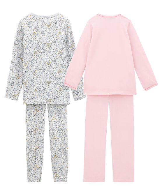 Lote de 2 pijamas cálidos para niña pequeña lote .