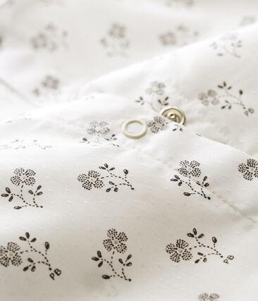 Mono corto para bebé niña blanco Marshmallow / blanco Multico