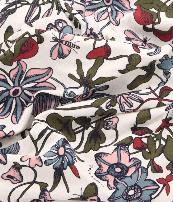 Bufanda estampada para mujer blanco Marshmallow / blanco Multico
