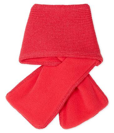 Bufanda para bebé niña con forro polar rojo Signal