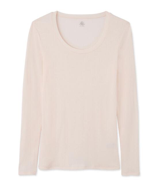 Camiseta de manga larga con cuello de bailarina de mujer FLEUR