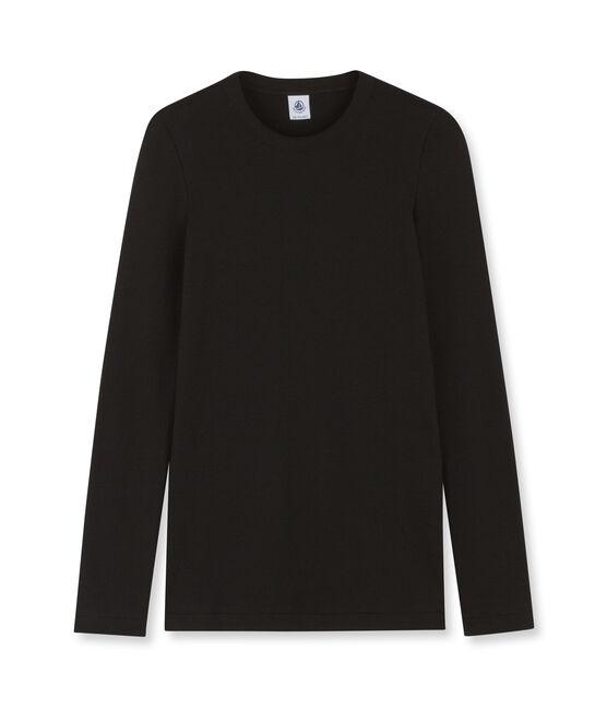 Camiseta de mujer icónica de manga larga negro Noir