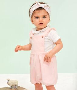 Bodi para bebé niña con collarín blanco Marshmallow