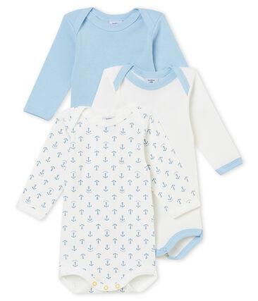 Trio de bodis de manga larga para bebé niño