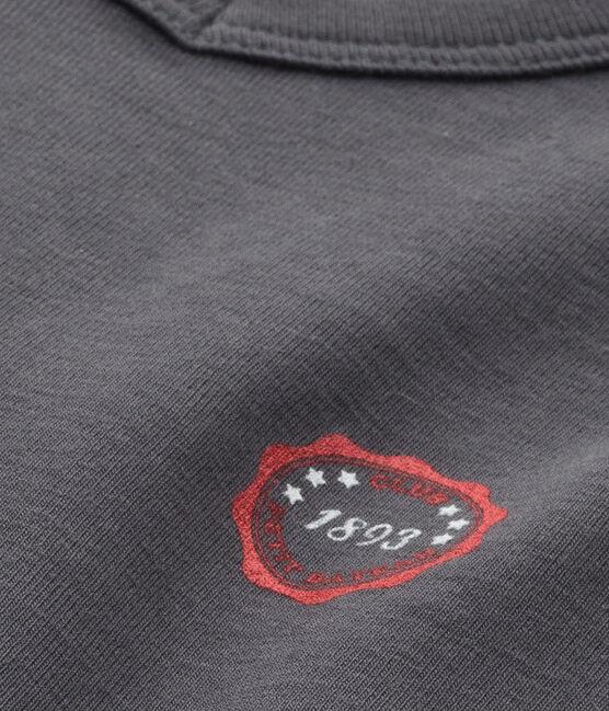 Camiseta de niño con cuello en pico y un motivo estampado gris Maki