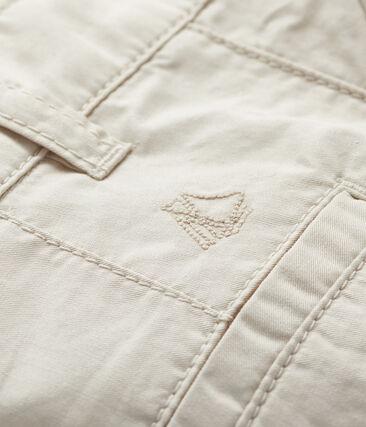 Pantalones cortos para bebé niño de sarga blanco Feta