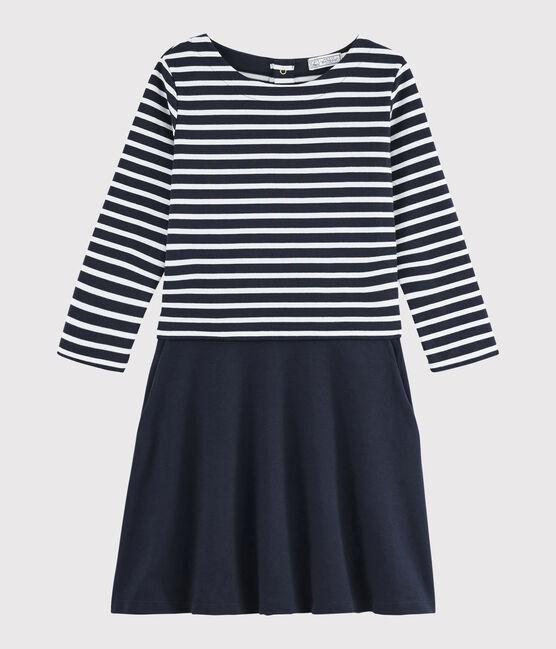 Vestido marinero para mujer azul Smoking / blanco Marshmallow