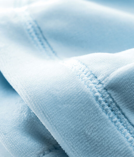 Gorro nacimiento de terciopelo para bebé unisex azul Fraicheur