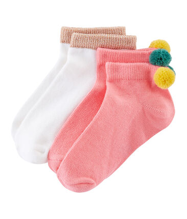 Lote de 2 pares de calcetines infantiles para niña