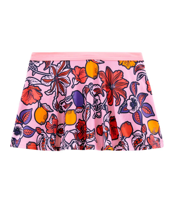 Falda de playa UPF 50+ para niña rosa Patience / blanco Multico