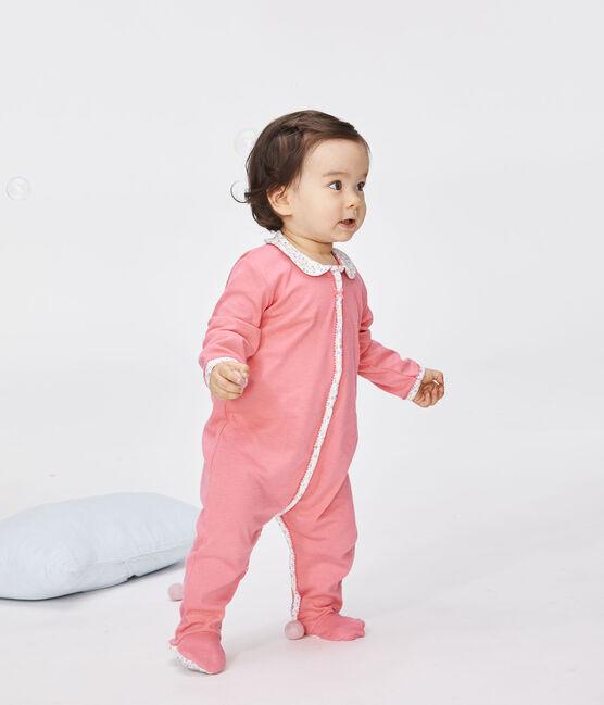 Pijama de punto para bebé de niña rosa Cupcake