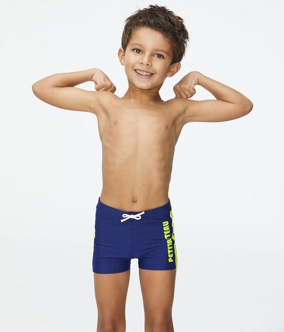 Bañador ecorresponsable para niño azul Touareg