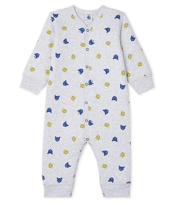 Pijama sin pies de punto acolchado para bebé de niño gris Poussiere / blanco Multico