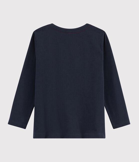 Camiseta serigrafiada para niño azul Smoking