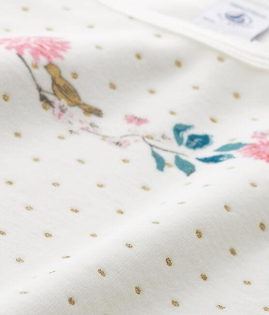 Chemise de nuit fille en bouclette velours blanco Lait / amarillo Or