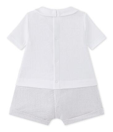 Pelele corto para bebé niño bi-materia