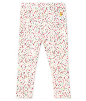 Leggings estampados para bebé niña blanco Marshmallow / blanco Multico
