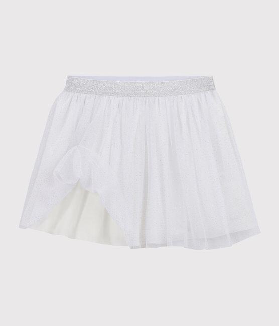 Falda de tul para niña blanco Marshmallow / gris Argent