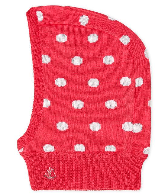 Pasamontañas para bebé unisex rojo Signal / blanco Marshmallow
