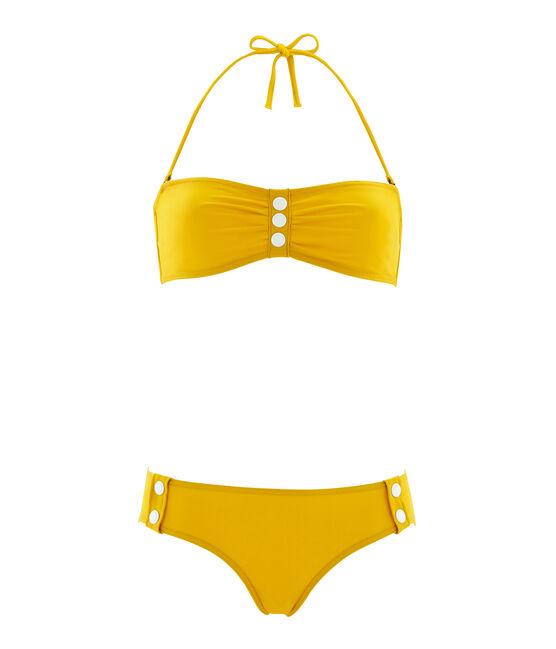 Traje de baño 2 piezas para mujer amarillo Bamboo