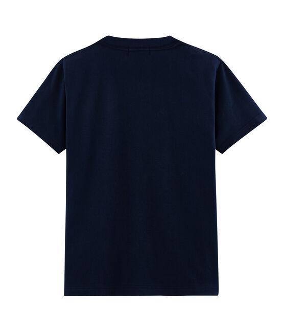 Camiseta mixta con motivo de postal azul Haddock