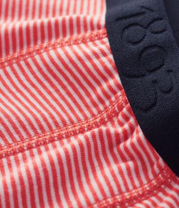 Bóxer para niño naranja Orient / blanco Marshmallow