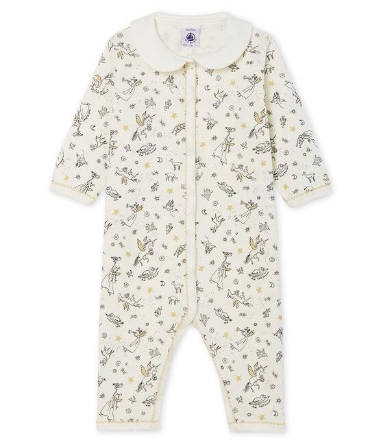 Pijama sin pies de punto para bebé niña blanco Marshmallow / blanco Multico Cn