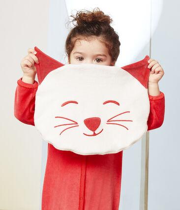 Funda para pijama de rizo extra cálida blanco Marshmallow / rojo Signal