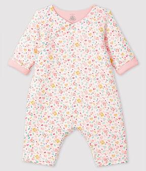 Mono largo de punto para bebé blanco Marshmallow / blanco Multico