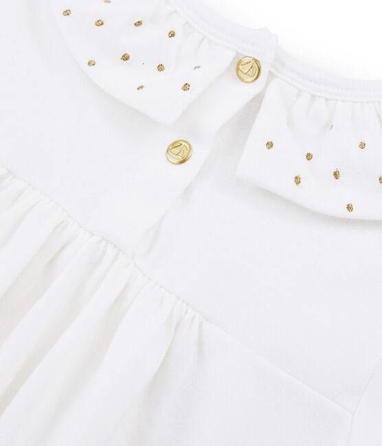 Blusa de niña blanco Marshmallow