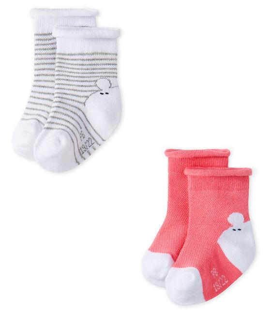 Lote de 2 pares de calcetines unisex para bebé lote .