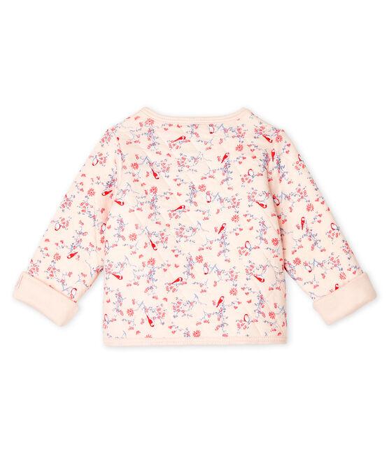 Cárdigan de túbico acolchado para bebé rosa Fleur / blanco Multico