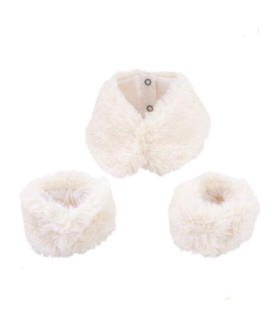 Lote de cuello con puños blanco Marshmallow
