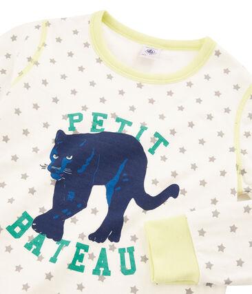 Pijama de tela túbica para niño blanco Marshmallow / gris Gris