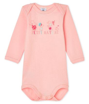 Bodi de manga larga para bebé niña rosa Minois
