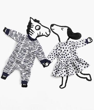 Vestido de manga larga Jean Jullien para bebé niña MARSHMALLOW/DOTTIES