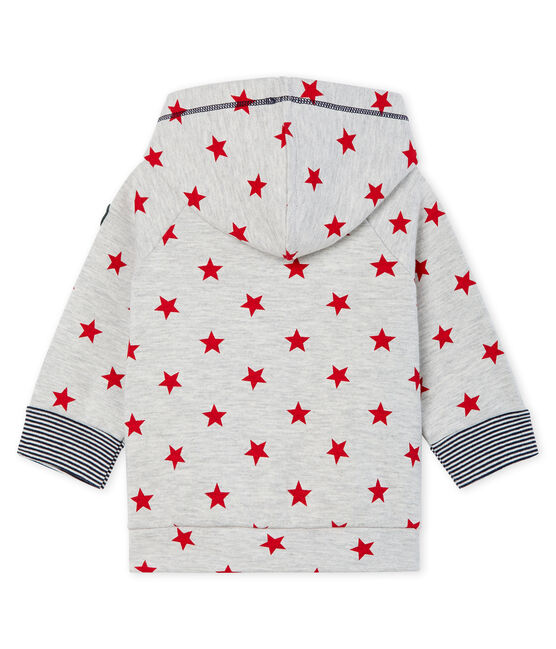 Sudadera estampada con capucha para bebé niño gris Beluga / rojo Terkuit