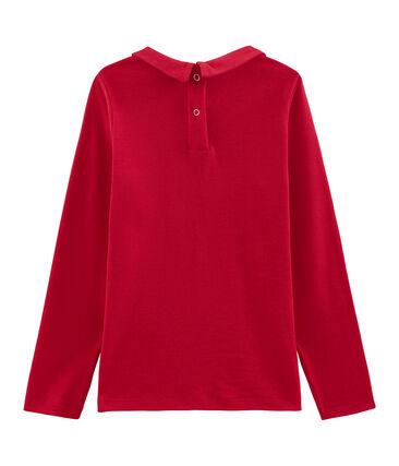 Camiseta niña con cuello babero rojo Froufrou