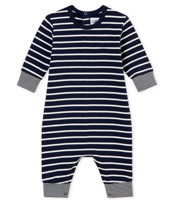 Pelele largo icónico para bebé niño azul Smoking / blanco Marshmallow